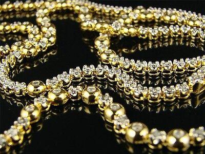 1 Reihen Rosenkranz Glieder Diamant Halskette 3 Ct 86.4cm