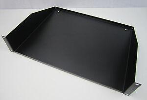 2u rack mount shelf 19 inch audio computer networking ebay. Black Bedroom Furniture Sets. Home Design Ideas