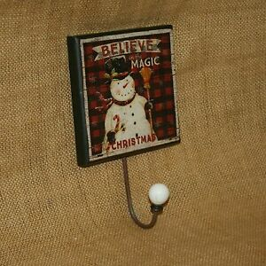 Believe-in-the-Magic-of-Christmas-Hanger-Snowman-Decorative-General-Purpose-Hook