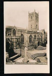 Somerset-AXBRIDGE-Church-and-war-Memorial-c1920-40s-RP-PPC-Westfield-397