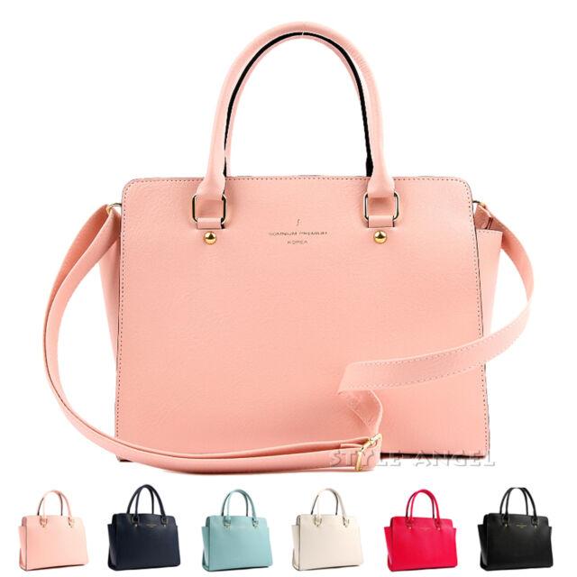 New Women Handbag Ladies Tote Cross Body Shoulder Bag Faux Leather Purse Satchel