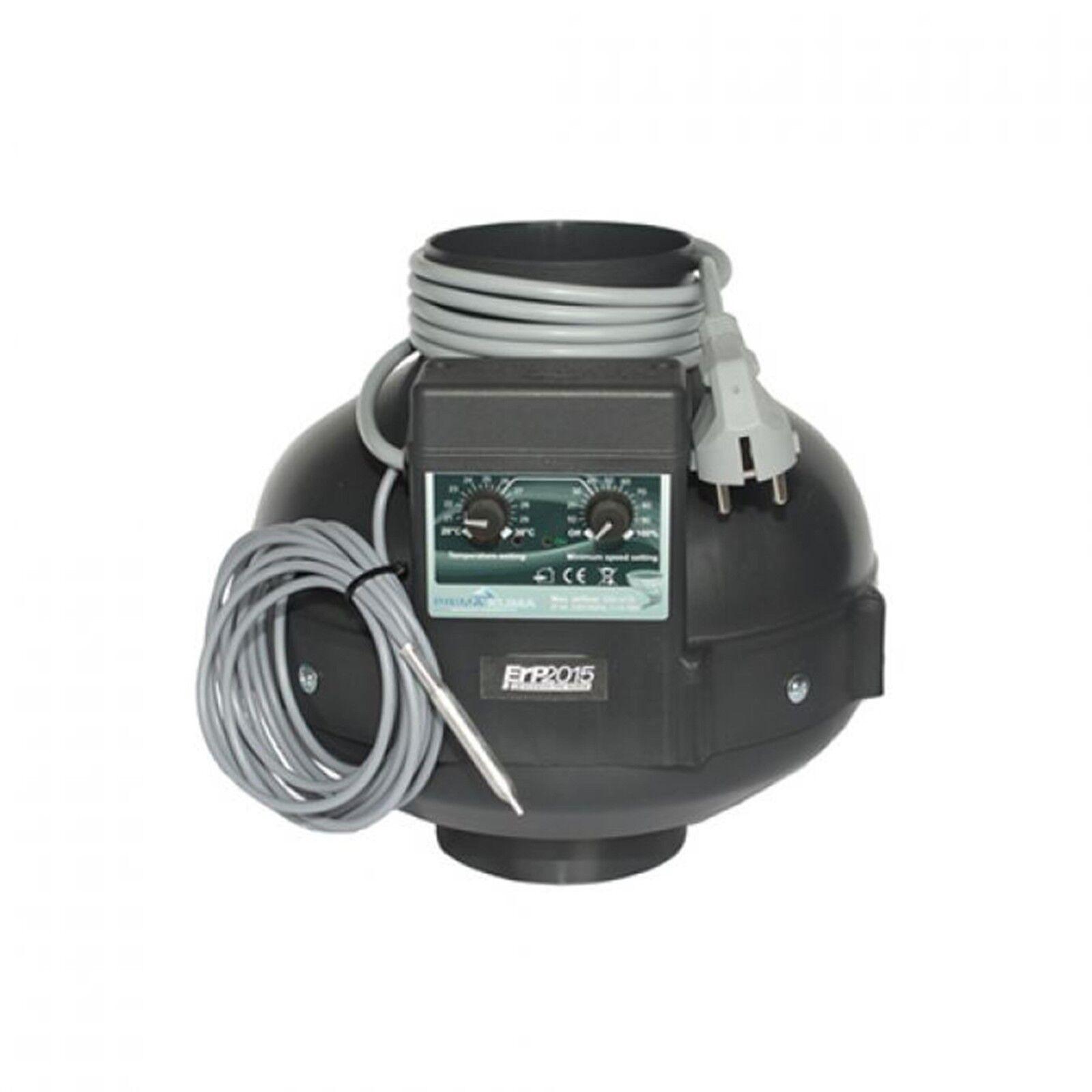 PK Rohrventilator 125 400 m³ h GSE Fan Controler Grow Prima Klima Rohrlüfter