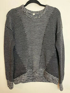 lululemon yogi crew merino wool knit dot print pullover