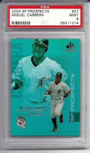 2004 SP Prospects #27 Miguel Cabrera Marlins graded PSA 9 Mint