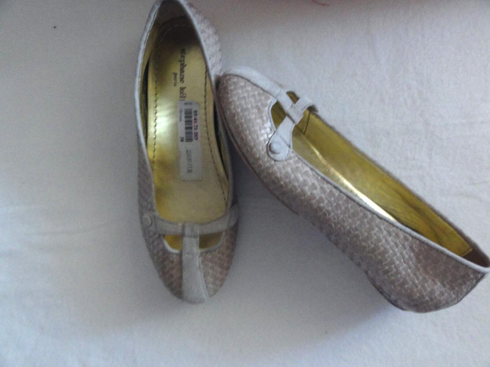 Stephane Kelian Paris, Leder Schuhe, Ballerinas,Gr. 37/38 in Beige NP-