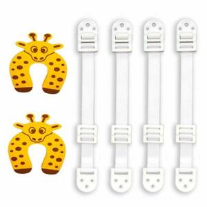 10-Pack Furniture & Anti-Tip Anchors & Two Door Stoppers - Baby Proofing Straps