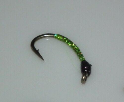 Details about  /fishing flies-- green buzzer kamasan b110 size 10