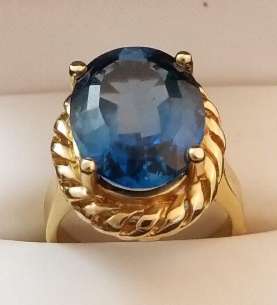 14 K gold Topaz Ring Solid gold