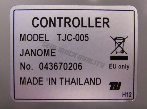 FOOT CONTROL PEDAL # 043670206 W// Cord Genuine Janome Alt# C21361 TJC-005 YC-485