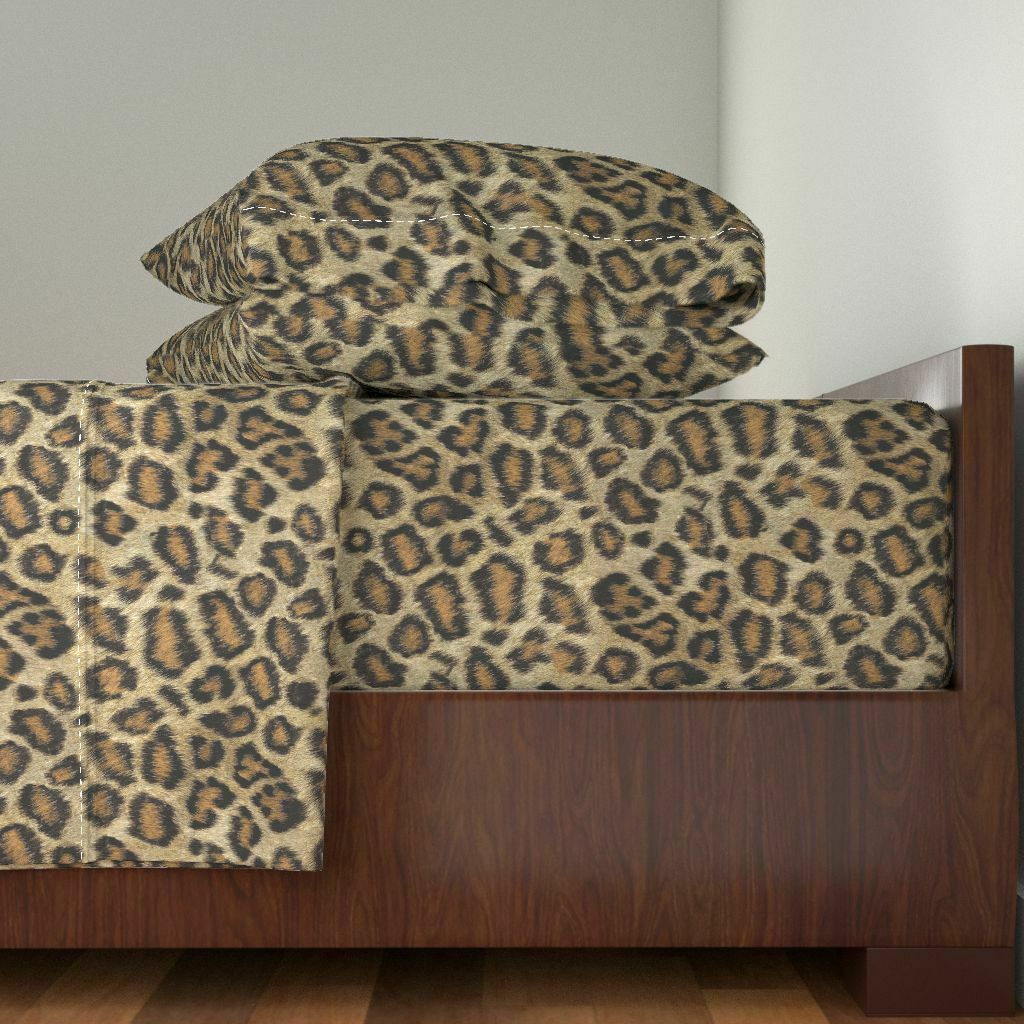 Leopard Printed Etosha Leopard Animal 100% Cotton Sateen Sheet Set by Roostery