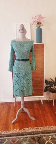 Vintage Crochet Dress 40s 60s 70s Hand Hippie Boho
