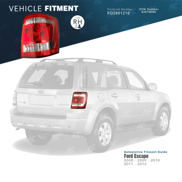 Partslink FO2801210 OE Replacement Tail Light FORD ESCAPE 2008-2012
