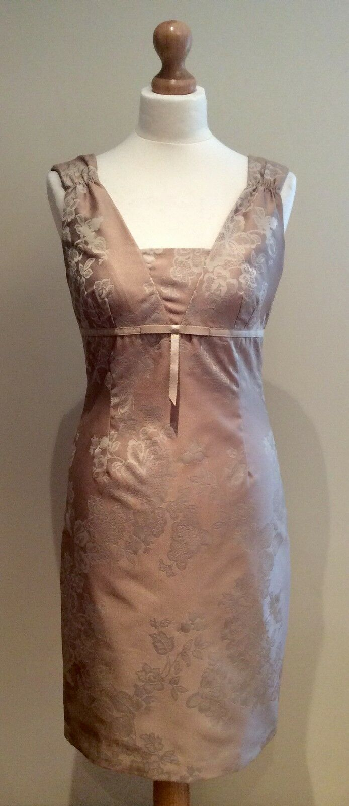 WHISTLES DRESS SIZE 10 PALE gold NUDE BODYCON WEDDING