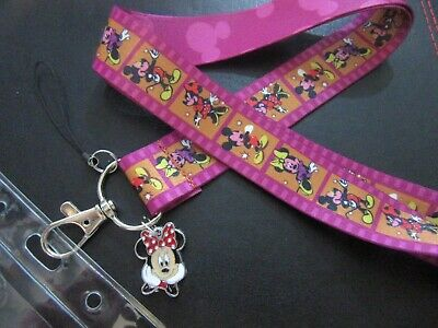 Brillante Minnie Mouse Cordino Cinturino Pin Trading Pendente Charm Titolare Id-mostra Il Titolo Originale Per Garantire Una Trasmissione Uniforme