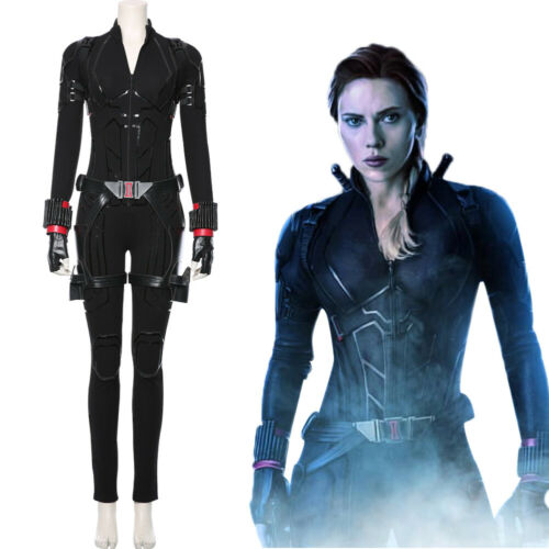 Avengers 4 Endgame Black Widow Natasha Outfit Cosplay Costume Uniform Tight Suit