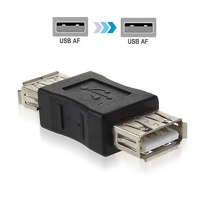 2PC USB 2.0 Type A Female to Female Adapter Coupler Gender Changer Connector