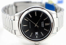 Casio MTP1183A-1A Men's Analog Black Watch Steel Band Classic New Date Display