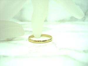 BAGUE ALLIANCE MARIAGE OR JAUNE 18 CARATS 750/000 1.40 GR DOIGT 53 L 2 MM R35861