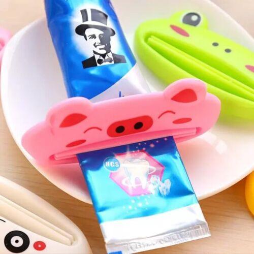 Animal Toothpaste Dispenser Plastic Tube Squeezer Rolling Holder For Bathroom