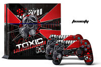 Skin Sticker For Ps4 System Playstation 4 Console + 2 Controller Decals - Toxic