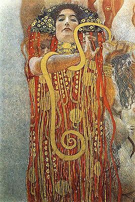 Art Print - Hygeia (Detail) Of Medicine - Klimt Gustav 1862 1918