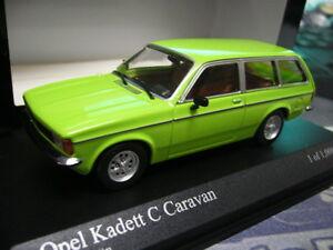 OPEL-Kadett-C-Caravane-Kombi-Green-vert-1978-Nouveau-Minichamps-pma-s-prix-1-43