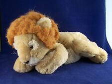 "2000 Commonwealth Toy Animal Alley Lion 19"" Bean Bag Plush Stuffed Animal"