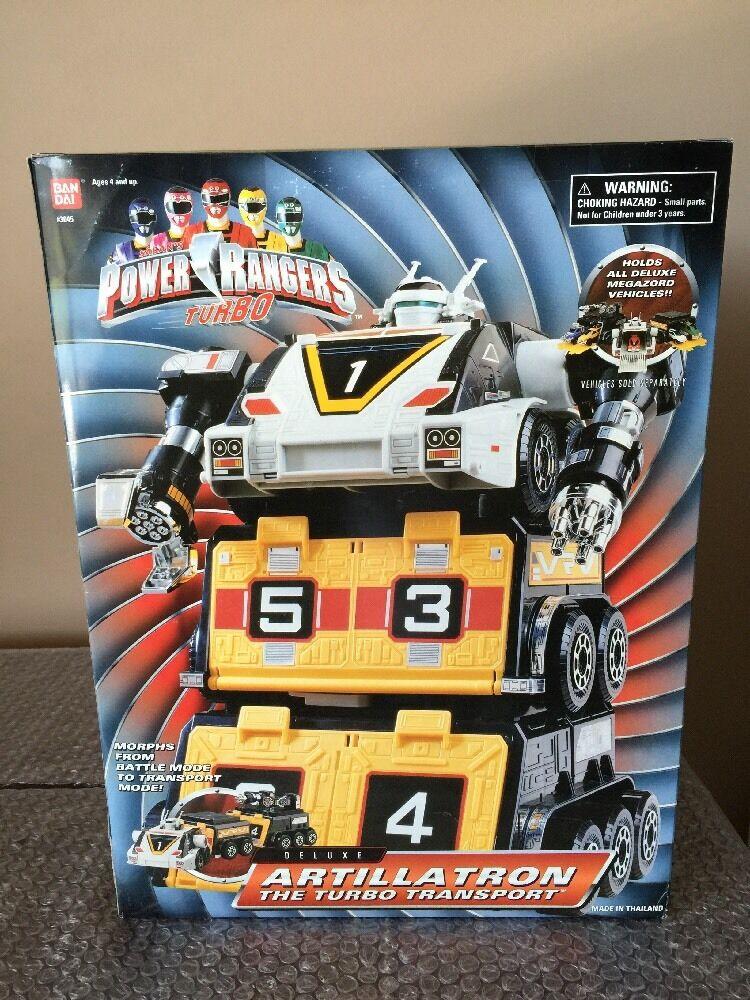 BANDAI Power Rangers Turbo Deluxe artillatron el Turbo transporte Megazord Menta en Caja Sellada