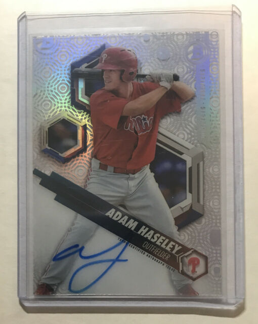 2018 Bowman High Tek Adam Haseley Rookie Card Auto Autograph RC Phillies #PHTAH