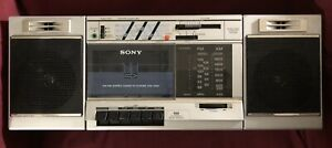 Sony CFS-3000 Boombox Single Cassette Corder Vintage Stereo System AM FM Radio