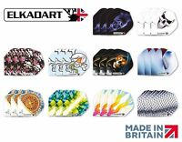 10 SETS/30 PIECES ASSORTED ELKADART DART FLIGHTS MIXED DESIGNS STANDARD SHAPE