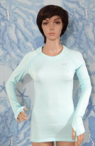 Armour Thumb Coldgear Under s l blu Fitted Cosy Athletic Hole m Bianco Crew Top aw6qYw