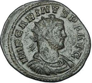 CARINUS-Original-284AD-Lugdunum-Authentic-Ancient-Roman-Coin-VICTORY-i65842