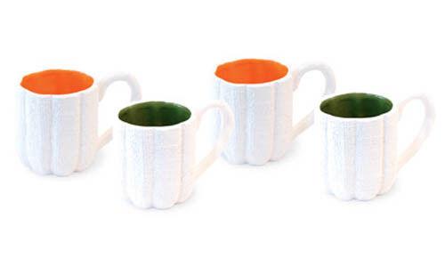 Weiß Weiß Weiß Burlap Mugs Set of 4 by Boston International 5225a1