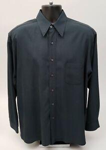 Ted Baker London Men's Dress Shirt Ted Size 3 Black Blue Check