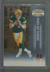2005-GRIDIRON-GEAR-HOLO-GOLD-14-BRETT-FAVRE-024-100-GREEN-BAY-PACKERS-HOF