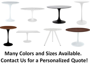Details About High End Tulip Table Replica Round Coffee Dining Black Or White Saarinen