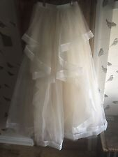 Champagne & Ivory Bridal Skirt- Layered Tiers. Size 8/10/12. NEW