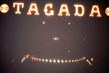 Kodak Kodachrome Slide Negative, Tagada amusement ride Sign Lit Up At Night