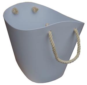 Klein- & Hängeaufbewahrung Holzkörbe Kunststoff Korb Klein Weiß Mit Seilgriff Oval Termatech Auch Kamin Brenn Holz Lassen Sie Unsere Waren In Die Welt Gehen