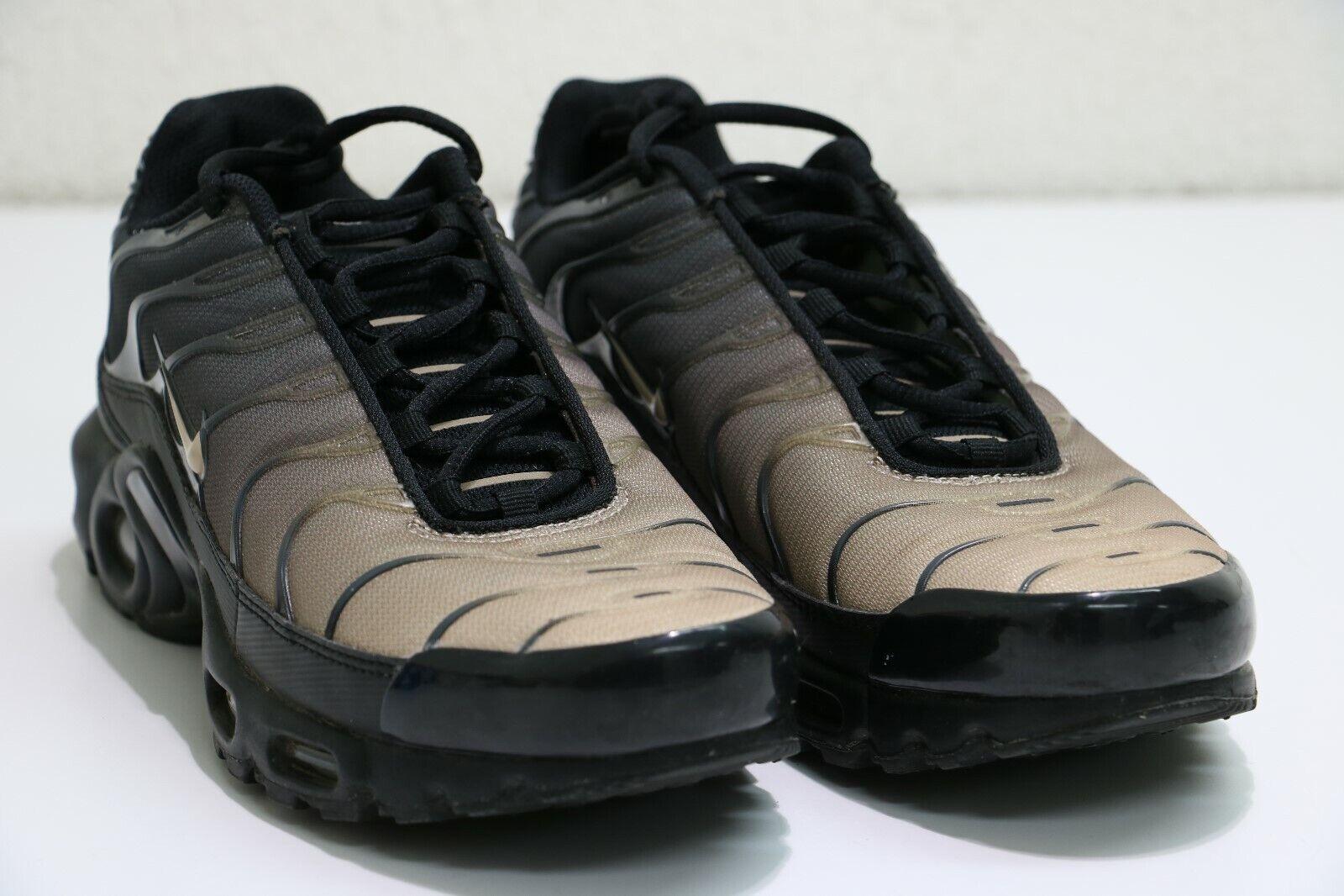 6fb6fc7751 Nike Nike Nike Air Max Plus TN Gradient Mens 852630-026 Black Sand Running  Sneakers