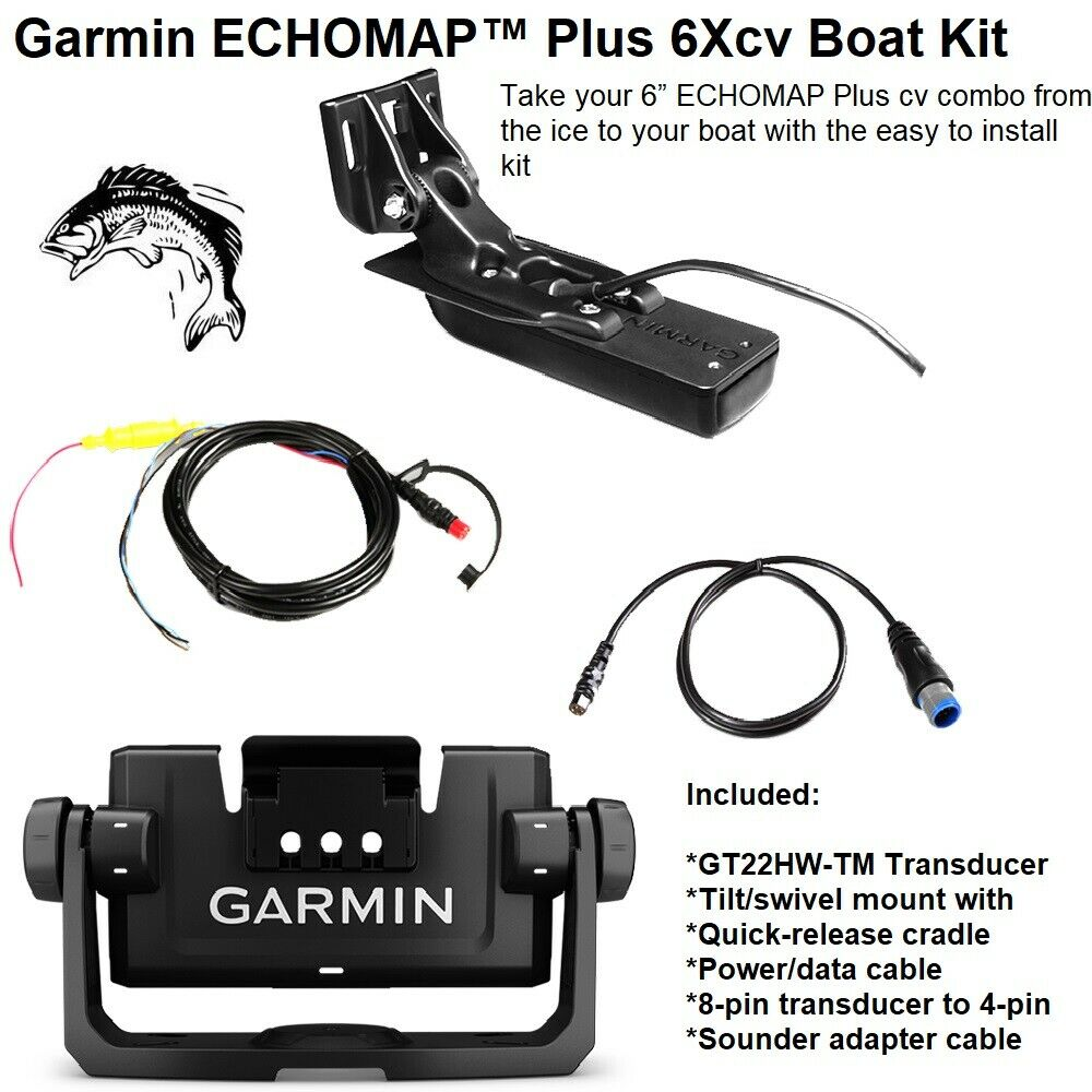 Garmin ECHOMAP™ Plus 6Xcv Boat Kit Combo  From The Ice To Your Boat
