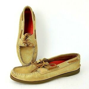 Sperry Top Sider Angelfish Gold Glitter Leather Boat Shoes
