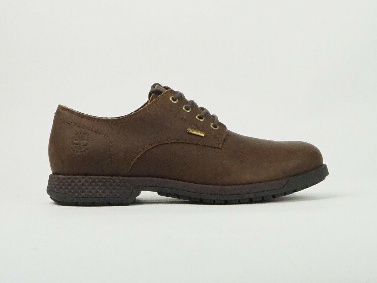 Mens Timberland Citys Edge GTX A1SNK Brown Leather Lace Up Shoes UK 6.5
