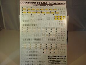 "DECALS 1//43 PLAQUES FORD FIESTA RS WRC /""QATAR/"" PORTUGAL 2013 COLORADO  43234"