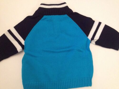 Nautica Baby Boys Outfit Sweater Plaid Shirt Pants Size 12 Months Teal Navy Blue