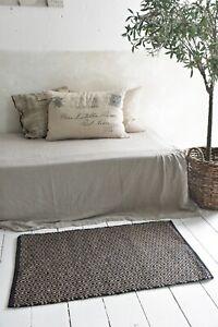 Nostalgie-Vintage-Teppich-Laeufer-100-Jute-60x90cm-Jeanne-d-Arc-living-Natur