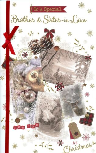 BROTHER CHRISTMAS EXTRA LARGE CARD WITH LOVELY VERSES