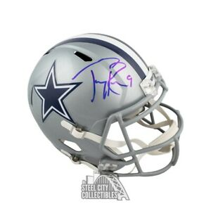 online retailer 94855 7646b Details about Tony Romo Autographed Dallas Cowboys Speed Full-Size Football  Helmet - BAS COA