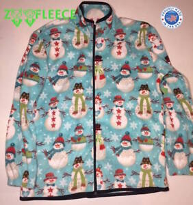 af680a69e9b Image is loading ZooFleece-Snowman-Blue-Jacket-Christmas-Sweater-Ugly- Sweater-